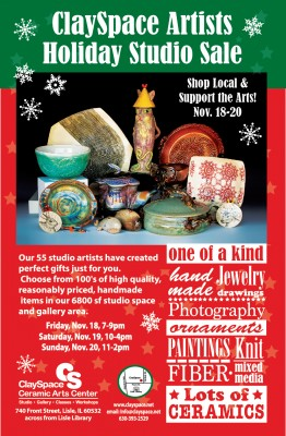 ClaySpace Artists Studio Holiday Sale