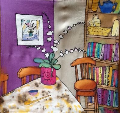 Silk Painting Demo - Bloomingdale Artists Association