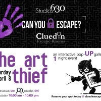 "Studios630 & Clued In Escape Rooms Presents ""The Art Thief"""