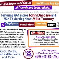 ClaySpace and WGN Celebrities Comedy Night Fundraiser Event