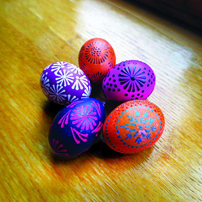 Lithuanian Egg Dyeing