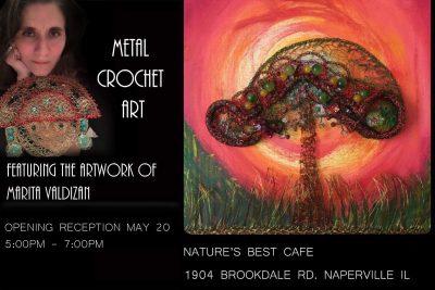 Metal Crochet Art Exhibit