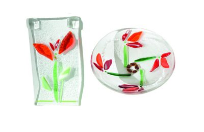 Glass Fused Bowls and Suncatchers