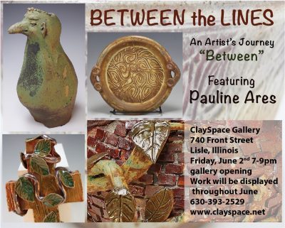 Pauline Ares Show at the ClaySpace Gallery