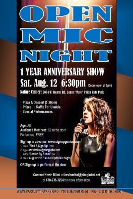 Bartlett Open Mic Night: 1 Year Anniversary
