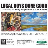 LOCAL BOYS DONE GOOD The works of Tony Fitzpatrick & Kirk Kerndl