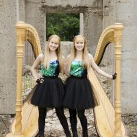 Camille and Kennerly Kitt, THE HARP TWINS, In Concert