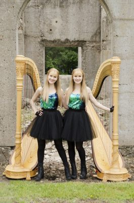 Camille and Kennerly Kitt, THE HARP TWINS, In Conc...