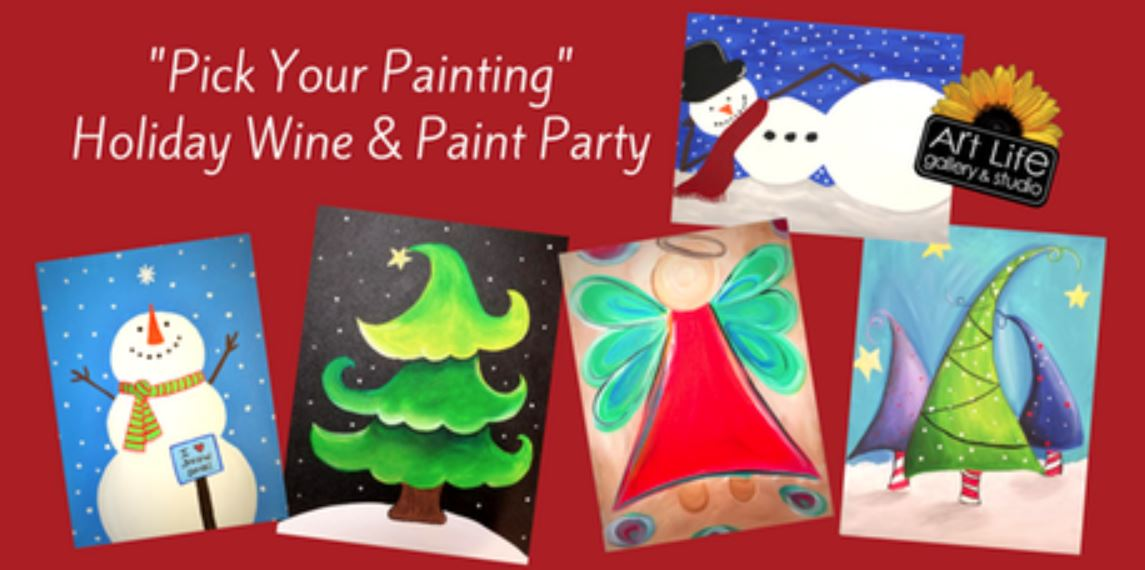 29 special holiday pick your painting wine paint for Christmas classic art craft festival