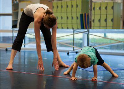 Family Yoga at the Lisle Library