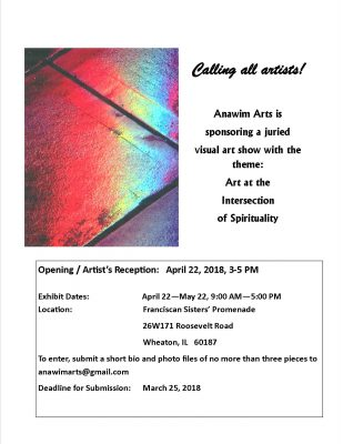 Calling all artists! Art at the Intersection of Spirituality