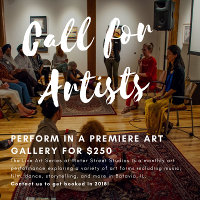 Call for Artists: Water Street Studios Seeking New Performers for Monthly Live Art Series