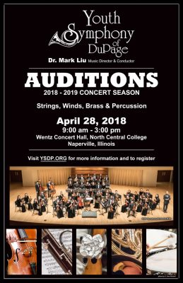 YSDP 2018 - 2019 Orchestra Auditions