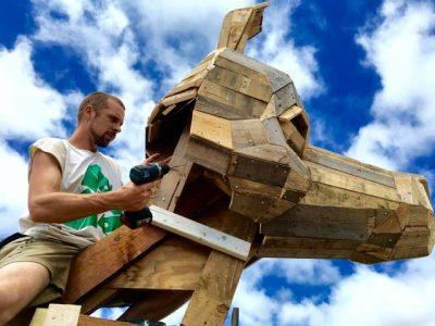 Troll Hunt - Artist in Residence Thomas Dambo
