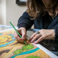 Artist in Residence - Dorothy Bury Shaw at the Indian Prairie Public Library