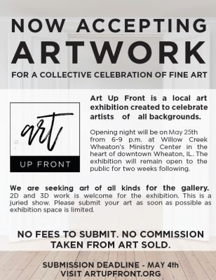 Art Up Front Annual Event: We Want to Showcase You...