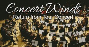 Concert Winds Return from Tour Concert