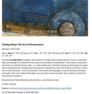 Artist Way-Finding Water