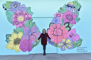 Butterfly Mural at Yorktown Center
