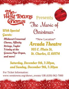 "West Towns Chorus Presents ""The Music of Christmas"""