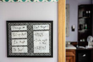 Adult Craft: DIY Dry Erase Organizational Boards