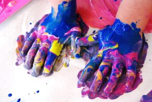 Handprints: Messy Mixed Media