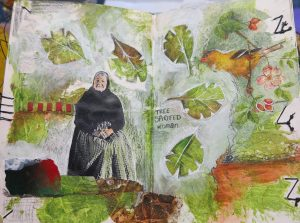 Art at Mayslake: Nature Words and Collage Six-Part Class Begins