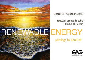 Opening Reception: Live Painting and solo exhibit Renewable Energy by Ken Reif