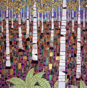 Glass Mosaics: Autumn Birch Tree
