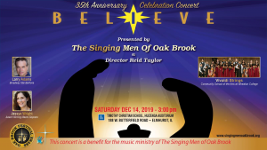 "The Singing Men of Oak Brook invite you to ""BELI..."
