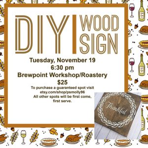 "DIY Wood Sign ""Thankful"""