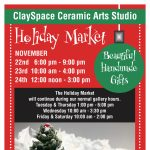 ClaySpace Ceramic Arts Holiday Sale