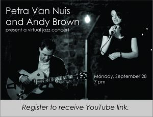 Petra Van Nuis and Andy Brown present virtual jazz concert through Clarendon Hills Library