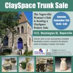 Naperville Woman's Club hosts a ClaySpace Ceramic Trunk Sale