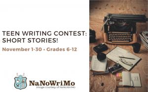 Teen Writing Contest: Short Stories!
