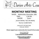Darien Arts Council November Meeting
