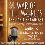 "COD College Theater: ""War of the Worlds: The Panic Broadcast"" adapted by Joe Landry"