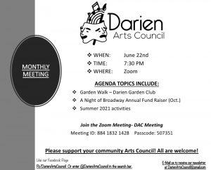 Darien Arts Council JuneMeeting