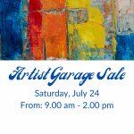 Artist Garage Sale