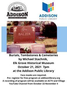 Burials, Tombstones and Cemeteries